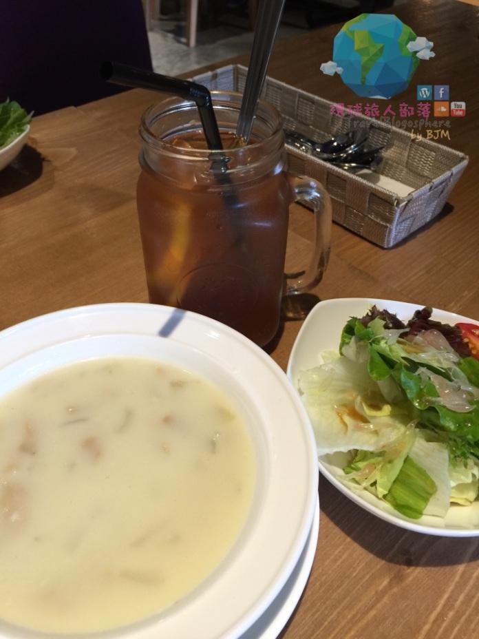 行政套餐之餐湯、沙律及飲品