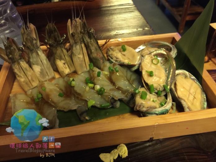一再添單的鮑魚及海蝦