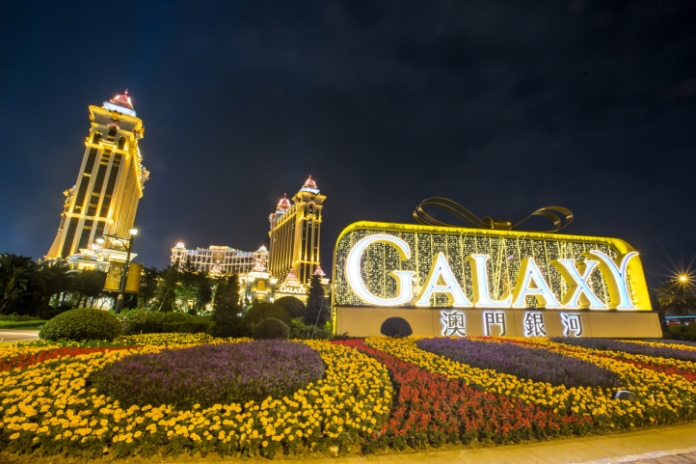 Galaxy Macau Hero Sign at Outdoor Lawn